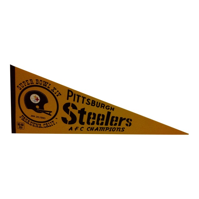 Vintage NFL Pittsburgh Steelers Pennant Flag For Sale
