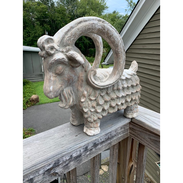 Terracotta Sculpture of Billy Goat Ram For Sale - Image 13 of 13