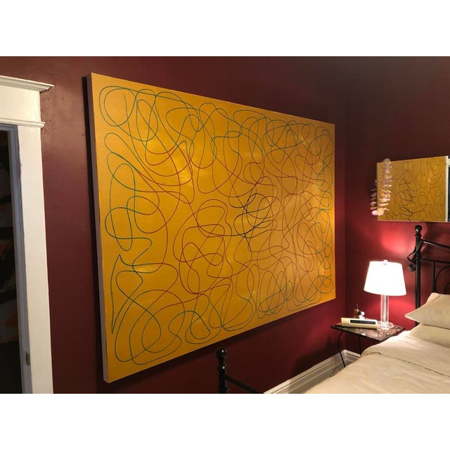 """Abstract Acrylic Painting by Artist Troy Smith - 60"""" X 84"""" Contemporary Art - Abstraction For Sale - Image 3 of 13"""