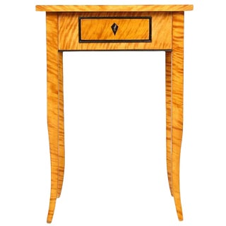 Biedermeier Caucasian Birch Veneer Table, Circa 1840 For Sale