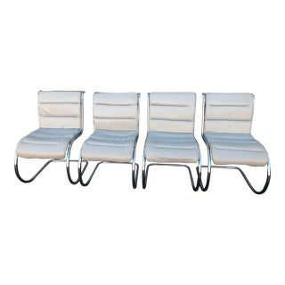 1960s Vintage Mies Van Der Rohe Chairs- Set of 4 For Sale