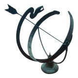 Image of 1950s Vintage Classic Sundial Statue For Sale