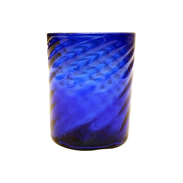 Cobalt Blue Vessel with Cocktail Stirrers - Image 2 of 5