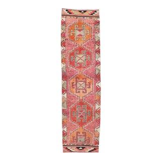 Vintage Decorative Herki Runner Rug For Sale
