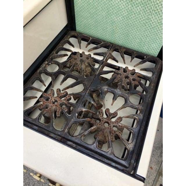 Cast Iron Antique Art Deco Jadite Green Enamel Stove For Sale - Image 7 of 11