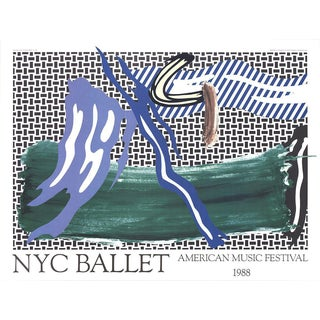 1988 Roy Lichtenstein NYC Ballet American Music Festival Poster For Sale
