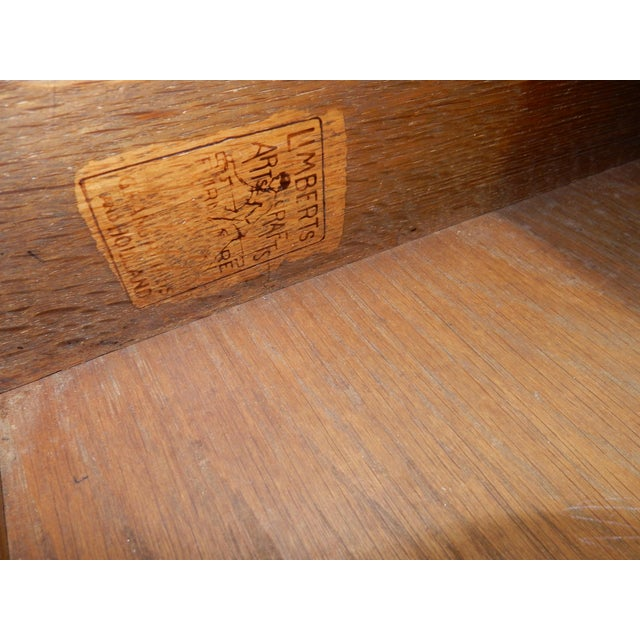 Antique Signed Charles Limbert Mission Oak Library Table/ Desk For Sale - Image 11 of 13