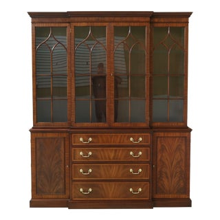 Henkel Harris Model 2372 Mahogany Breakfront Cabinet For Sale