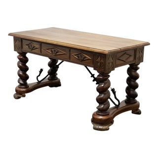Antique Spanish Baroque Rosewood Writing Desk For Sale