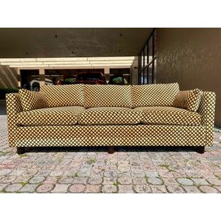 Newly Reupholstered Henredon Tuxedo Sofa Preview
