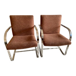 Iconic Vintage Mies Van Der Rohe Brno Chairs - a Pair For Sale