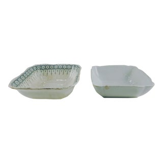 Mismatched Ironstone Bowls - a Pair For Sale