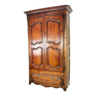 Vintage French Walnut Armoire For Sale
