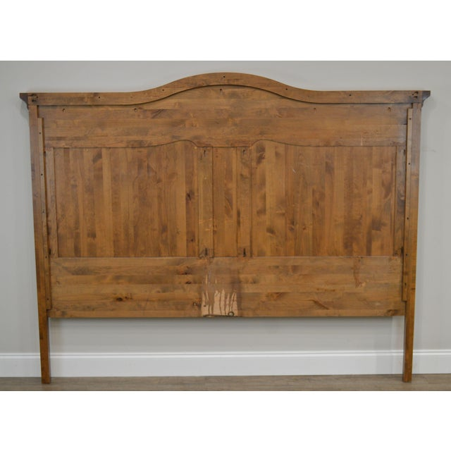 Pine French Country Style Quality High Back Pine King Headboard For Sale - Image 7 of 13