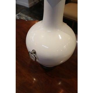 Silver Leaf Lidded White Ceramic Vase Preview