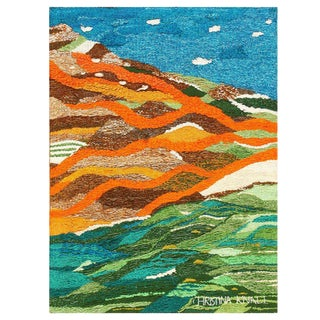 Scandinavian Landscape Tapestry Rug by Christina Knall - 3′ 10″ × 5′ For Sale