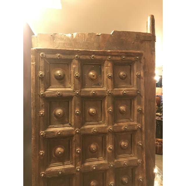Gold Original Antique Salvaged Hand-Made Indian Doors For Sale - Image 8 of 11