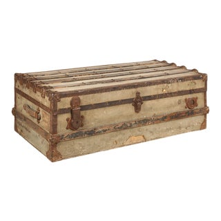 19th Century French Steamer Trunk For Sale