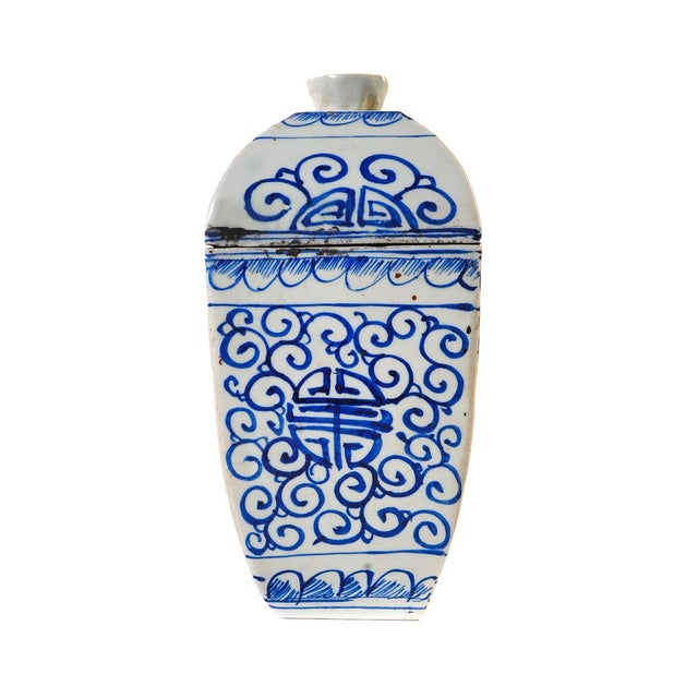 Chinese 19th Century Blue & White Urns - A Pair For Sale - Image 4 of 10