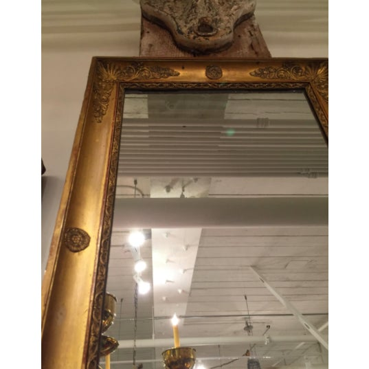 French Empire Pier Mirror For Sale - Image 4 of 5
