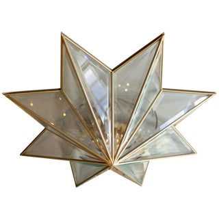 1970s French Starburst Ceiling Fixture For Sale
