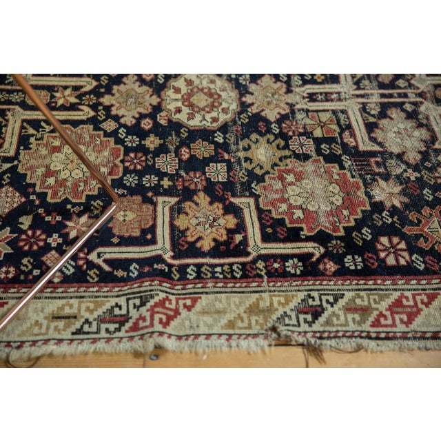 "Cottage Antique Caucasian Rug - 3'9"" X 5'1"" For Sale - Image 3 of 13"