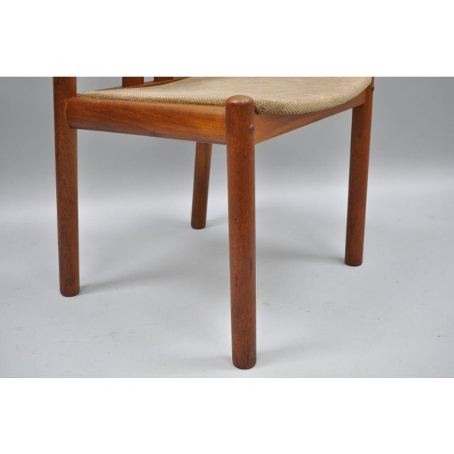 Uldum Danish Modern Teak Curved Back Rosewood Inlay Dining Chairs - Set of 6 For Sale - Image 11 of 12