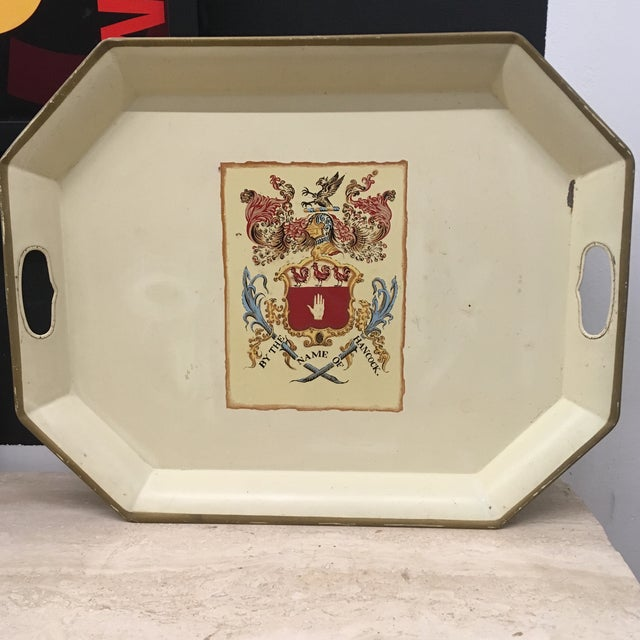Tray - Ivory Enamel Coat of Arms For Sale In Providence - Image 6 of 6