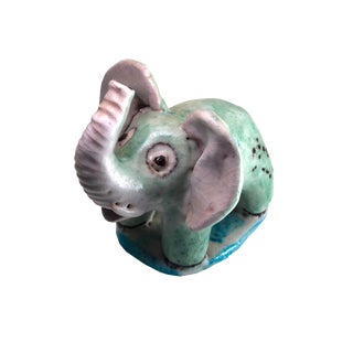 Guido Gambone Pottery Elephant Figurine For Sale