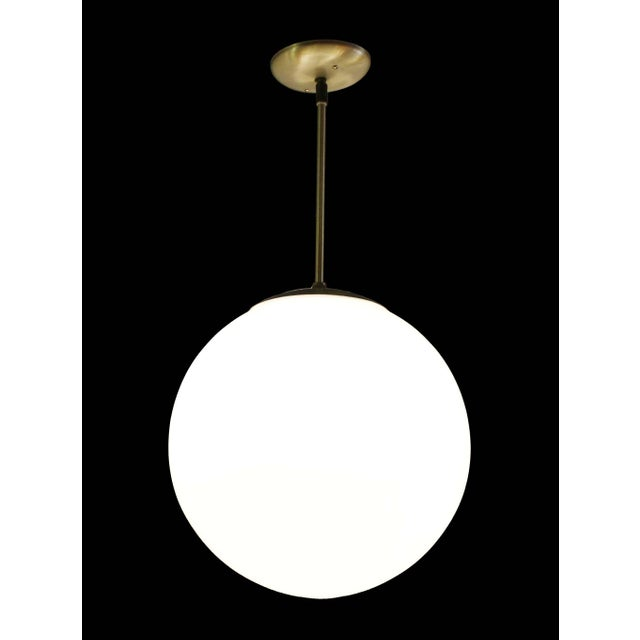 Vintage Mid-Century Globe Pendant Light - Image 4 of 4