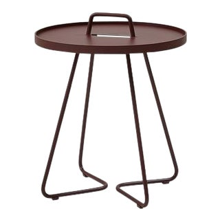 Cane-Line On-The-Move Side Table, Small, Bordeaux Red For Sale