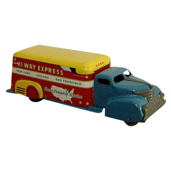 Marx Tin Litho Highway Express Toy Truck For Sale