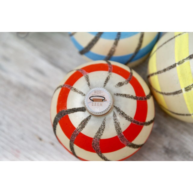 1960s Striped West German Christmas Ornaments - Set of 5 For Sale - Image 5 of 11