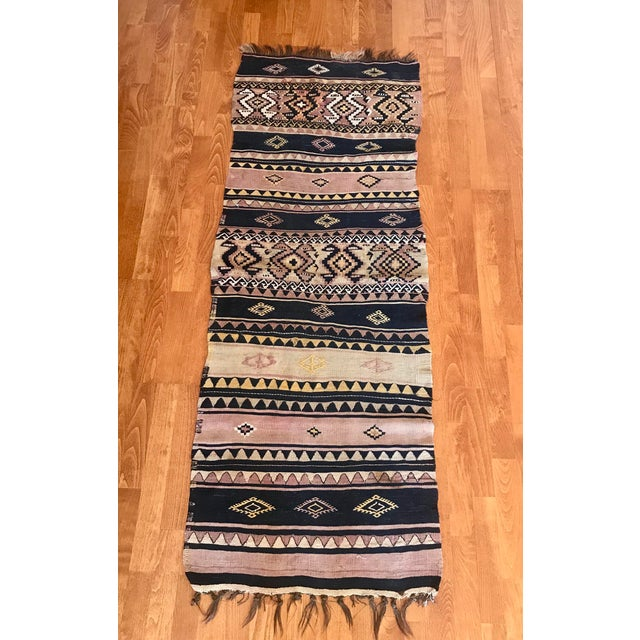 This rug (kilim) is handwoven and made of 100% Natural materials. Eco friendly and unique. No Chemical Before shipping we...