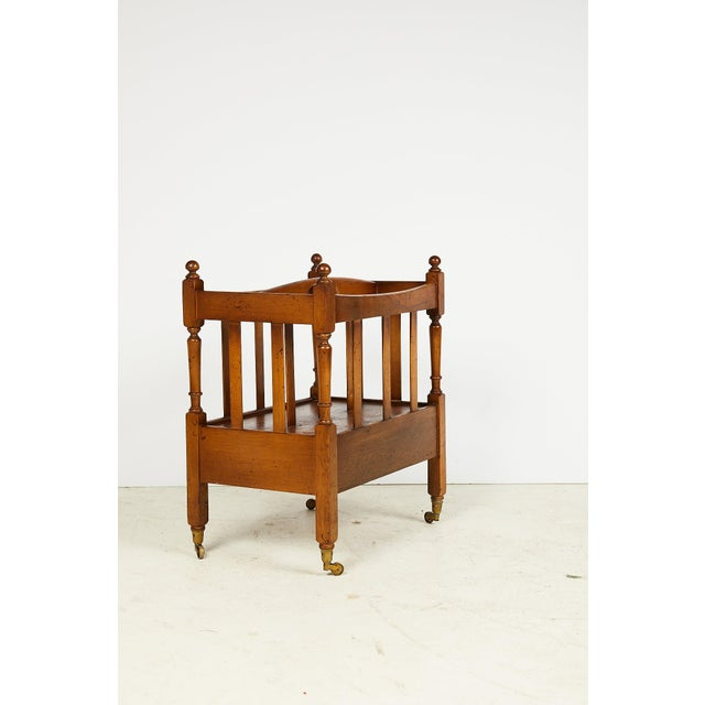 Early 20th Century English Sheraton Style Canterbury For Sale - Image 4 of 13