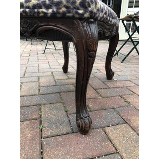 Leopard & Wood Foot Stool Preview