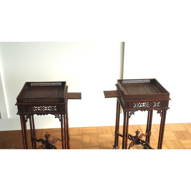 Vintage Southeast Asian Side Tables - A Pair - Image 3 of 10