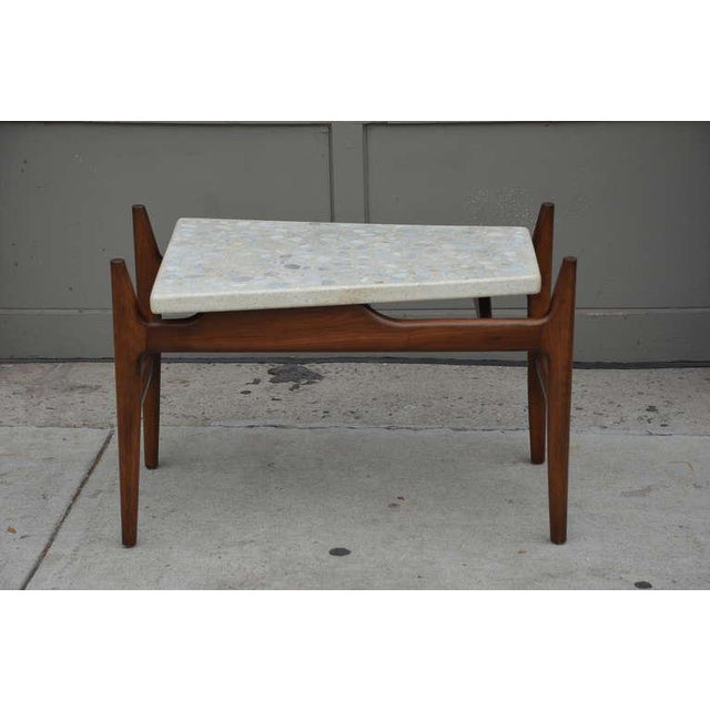 Stone Rare Trapeze Terrazzo Side Table by Harvey Probber For Sale - Image 7 of 7