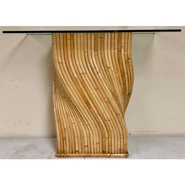Gabriella Crespi Pair of Pencil Bamboo Modern Console Tables Att. To Crespi For Sale - Image 4 of 10