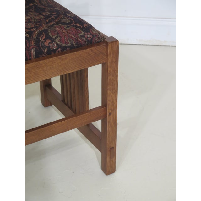 Stickley Mission Oak Arts & Crafts Dining Chairs- Set of 6 For Sale In Philadelphia - Image 6 of 12