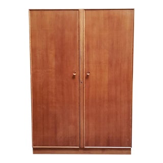 Vintage Oak Wardrobe by Meredew Furniture C.1960s For Sale