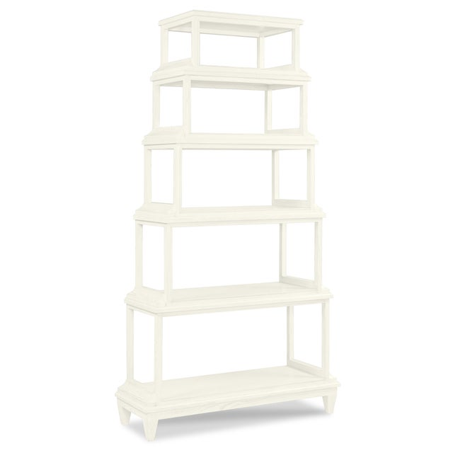 Asian Jules Etagere, Cloud White For Sale - Image 3 of 3