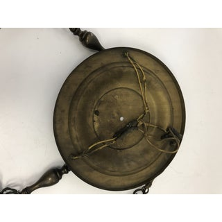 Antique Victorian Pressed Brass Pan Ceiling Light Fixture Preview