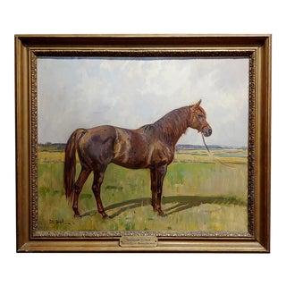 """Peter Biegel """"Matador"""" Portrait of Horse Oil Painting For Sale"""