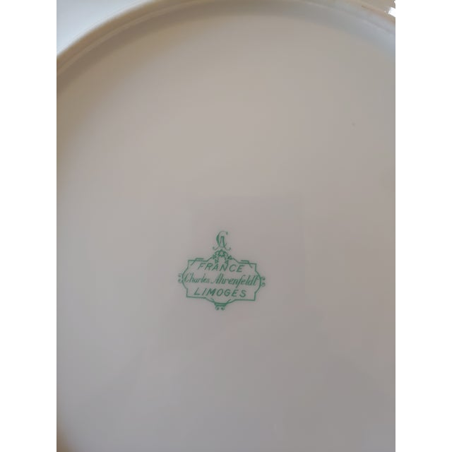 Limoges, France Vintage Early 19th Century Charles Ahrenfeldt Limoges Service Plates - 12 Pieces For Sale - Image 4 of 6