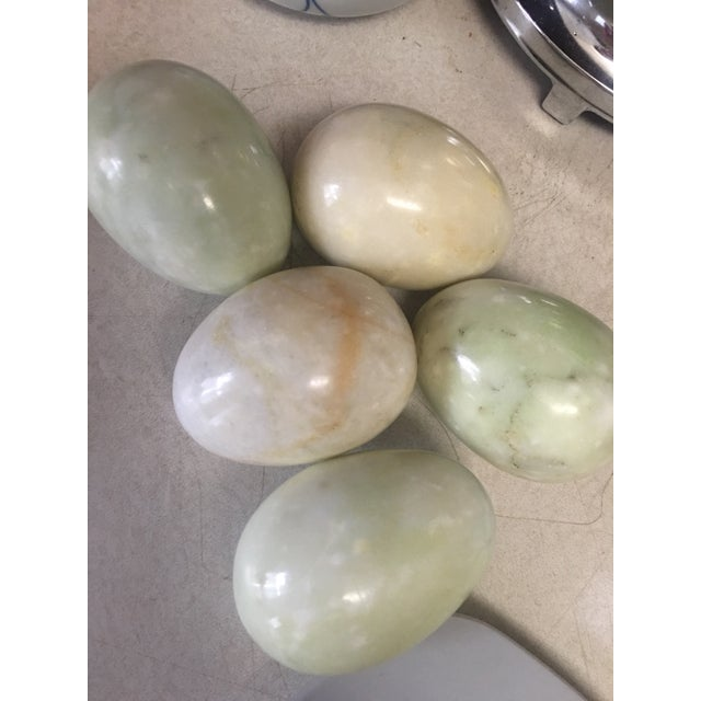 Large Marble Eggs - Set of 5 For Sale - Image 4 of 5