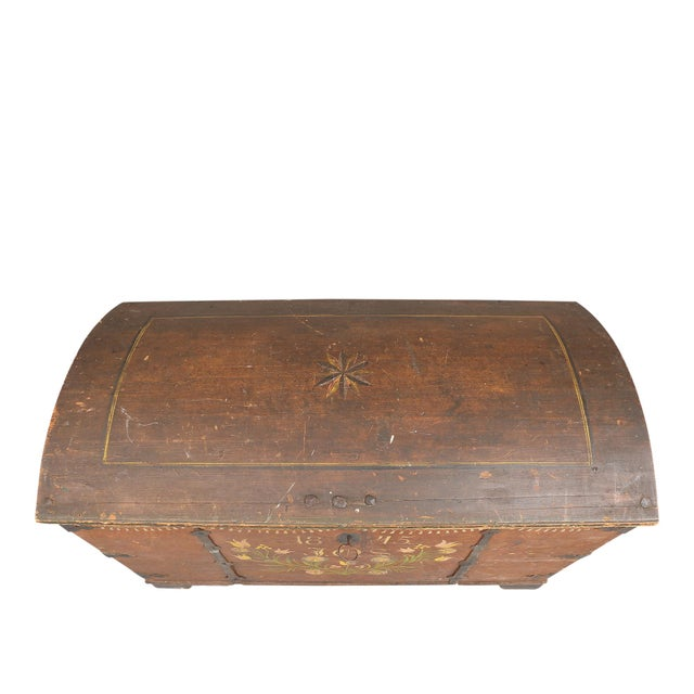 Antique Swedish Painted Chest, 1845 For Sale - Image 9 of 10