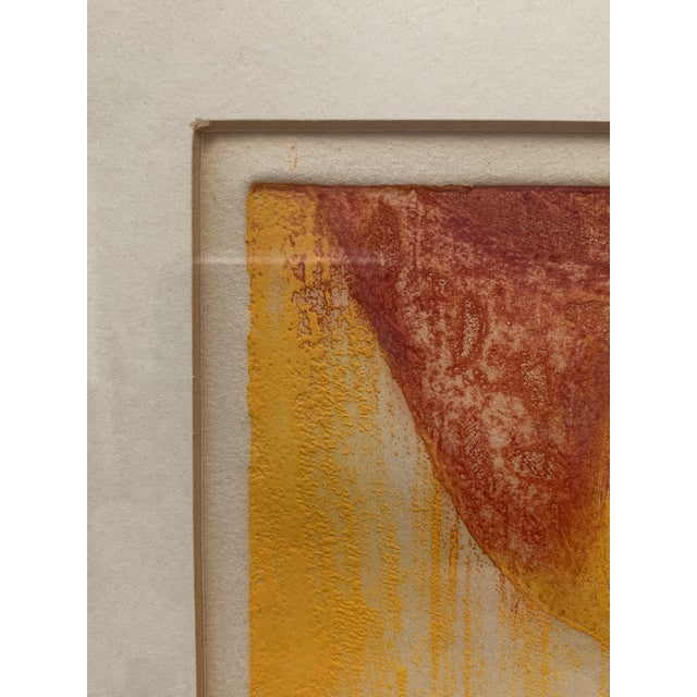 Wood Mid-Century Modern Mother and Child Print by Hiroko Yoshikawa For Sale - Image 7 of 10