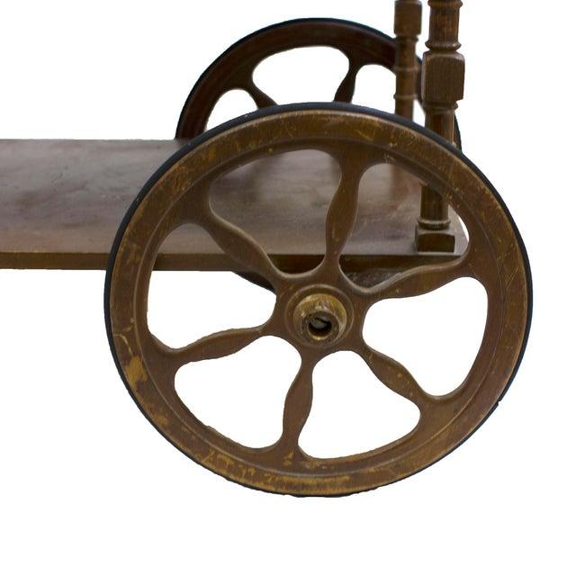 Mid-Century Wood Bar Cart - Image 3 of 5