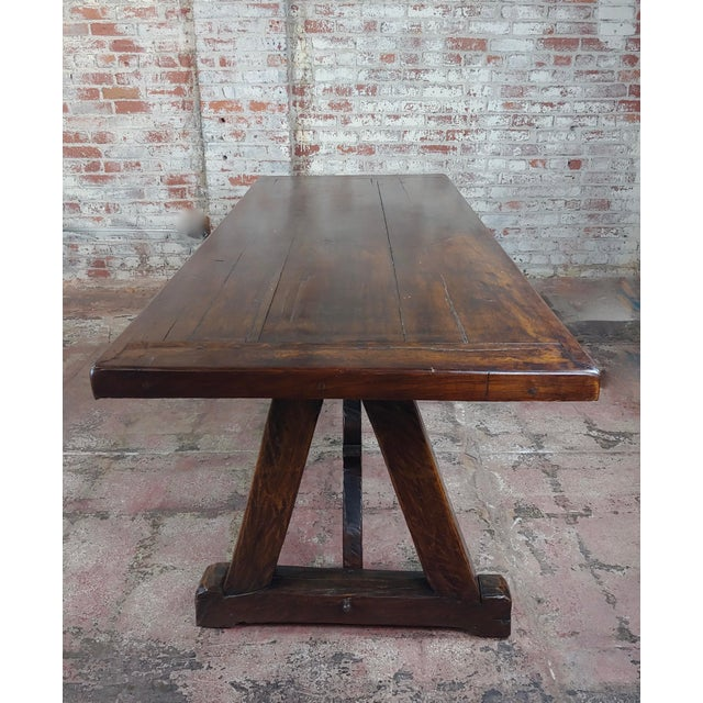 Spanish 1960s Spanish Colonial Gorgeous Walnut Dining Table For Sale - Image 3 of 10